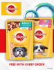 2 Pedigree Pouches Free with Every order of Dog Product