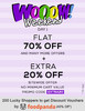 Flat 70% off + extra 20% off on all products with no minimum purchase