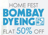 Flat 50% off or more + extra 15% cashback on Bombay Dyeing Bedsheet