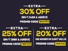 Extra 30% off on minimum purchase of Rs.2499 on all products