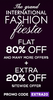 Flat 80% off + extra 20% off + upto Rs.200 off paid via mobikwik wallet on all products with no minimum purchase