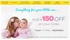 Flat Rs 150 off on kids clothes,diapers,maternity wear etc