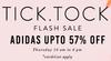 Get Upto 57% Off on Addidas Flash Sale