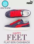 Flat 60%Off  on Puma Footwear