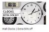 Extra 50% off on Wall Clocks