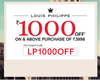Rs.1000 off on orders above Rs.3998 on Louis Philippe