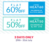 Flat 60% Off on Orders of Rs 1799 & Above & 50% Off on Orders of Rs.999 - 1798