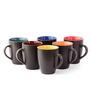 Cdi Large Coffee Mugs Black Matt Finish Outside
