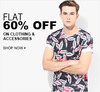 Flat 60% off on Clothing & Accessories