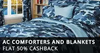 Get Upto 80% Off + Extra 50% Cashback on AC Comforters and Blankets