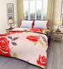 eCraftIndia Pink Roses Single Bed Reversible AC Blanket