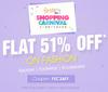 Flat 51% off  on Fashion Range + Extra 10% Cashback (Max. Rs.100) on paying through Mobikwik
