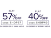 Flat 57% Off on orders of Rs 1199 & Above ||  Flat 40% Off on orders of Rs 599 & Above