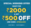 Special Weekend Offer - Flat Rs. 500 Off on Rs 2000