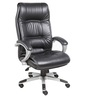 Office Chair in Black Leatherette