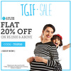 Get flat 20% off on purchase of Rs.1500 and above