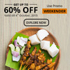 Upto 60% Off on local deals (Max Rs 250) + Upto 15% Mobikwik Cashback.