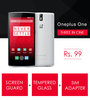 3-In-1 - One Plus One - Screen Guard | Tempered Glass | Sim Adapter