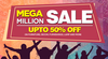 Mega Million Sale - Flat  50% off on Furniture, Decor, Furnishings & More