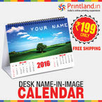 Desk Name-In-Image Calendar worth Rs.449 at Rs.199 + FREE Shipping.