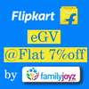 Flat 7% Instant discount on Flipkart e-Gift Cards