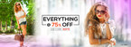Flat 75% off on Bags, Shoes, Dresses & MORE