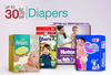 Get Upto 30% Off Diapers