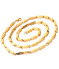 Magic Stones 18ct Gold And Platinum Coated Chain For Men