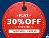 Flat 30% off Sitewide