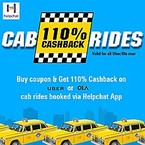 110 cashback on cab booking via helpchat