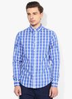Blue saint blue checked slim fit casual shirt 3902 3114381 1 catalog s