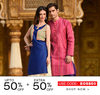 Get up to 50% off + extra 50% off on women's ethnic wear