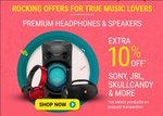 Flipkart: 10% Instant Discount with All Debit Cards, Credit Cards, NetBanking upto Rs.1000 on Audio devices.