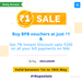 Niki BPB (Bille Pe Bachat) May 1 rupee sale - Buy BPB vouchers @ 1rs & Get 7% discount upto 200 on bill payments in May