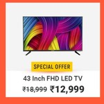 MarQ by Flipkart InnoView 109cm (43 inch) Full HD LED TV  (43DAFHD) + 10 Off with HDFC Bank Debit/Credit Cards & EMI Transactions | 8PM 14 May - 19 May