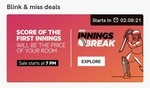 OYO Innings Break : Book Room in First innings Score Daily Flash Sale At 7pm ( World Cup sale )