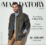Myntra Mandatory Sale 11th June - Upto 80% OFF on Men's Clothing and Accessories