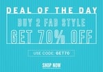 NNNOW : Deal of the day - Buy 2 Get 1   Apply code.