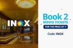 Paytm - 100% cashback on the ticket price of one ticket upto Rs 200 on booking 2 tickets at INOX cinemas