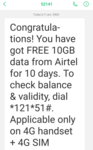 10 Gb for 10 Days on Airtel Backs again(user specific)