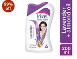 [ pantry ] Vivel Body Wash, Lavender and Almond Oil, 200ml with Free Vivel Loofah