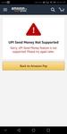 Amazon upi showing error, anybody facing same problem