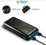 Flipkart Smartbuy 20000 mAh PowerBank (Black, Lithium Polymer)