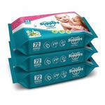 Lightning deal- Supples Baby Wet Wipes with Aloe Vera and Vitamin E - 72 Wipes/Pack, (Pack of 3)