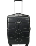 Killer Huawaii Polycarbonate 60 cms (24 inches) Black Hard Sided Trolley Suitcase