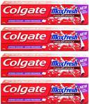 Colgate Maxfresh Spicy Fresh Red Gel Toothpaste  (150 g, Pack of 4)