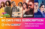 Get 3 months Viu premium Subscription Pack for Rs 1