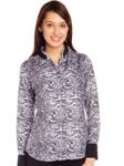 Fleet Street Women's Button Down Anna Shirt (FSR011BK_Black_Large)