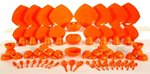 Microwave Safe & Unbreakable Dinner Set - 80 Pieces In Orange @ Just Rs 1186 | Free Shipping