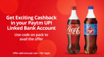 Flat Rs. 20 cashback on Rs. 40 Thumbs up, Sprite or Coca-Cola